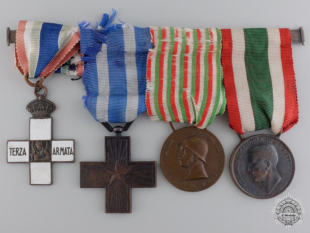 An Italian 3rd Army First War Medal Bar