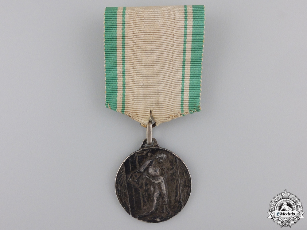 An Italian Assisting the Public in Alessandria Medal
