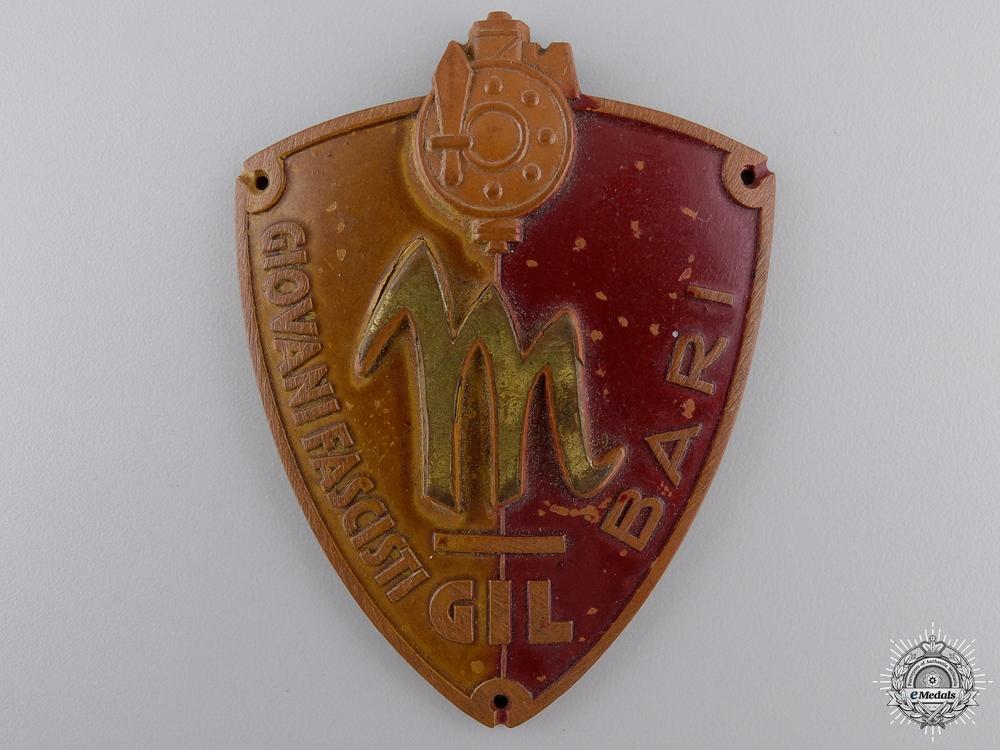 An Italian Bari Fascist Youth Membership Badge