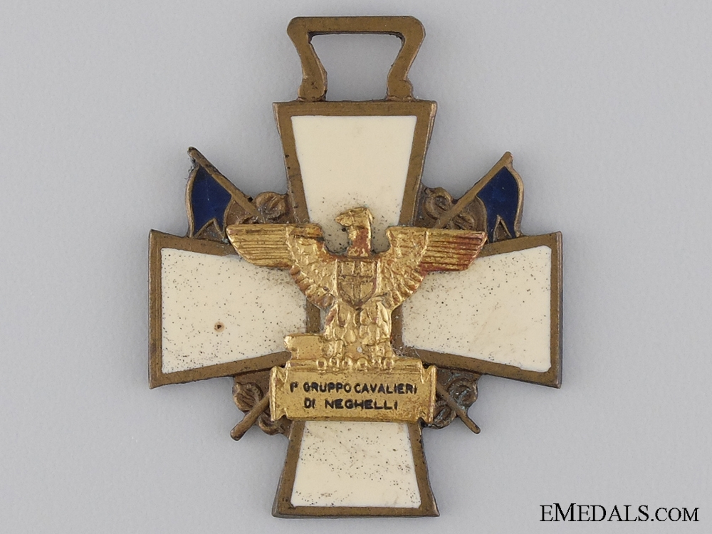 "An Italian East Africa ""Knights of the Group Neghelli"" Cross"
