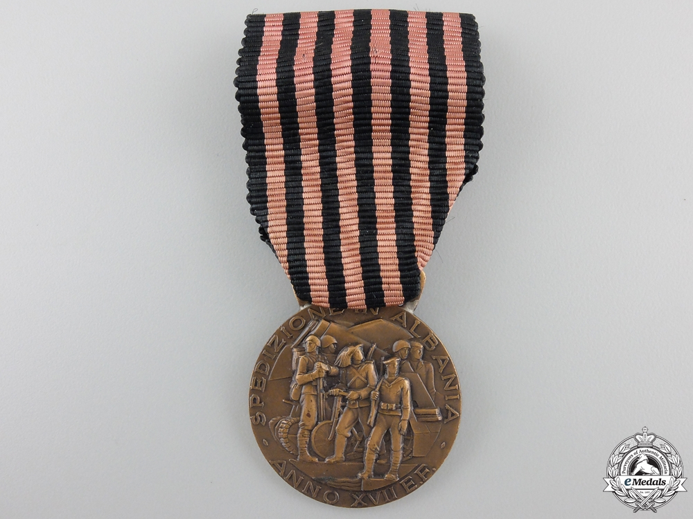 An Italian Expedition to Albania Campaign Medal