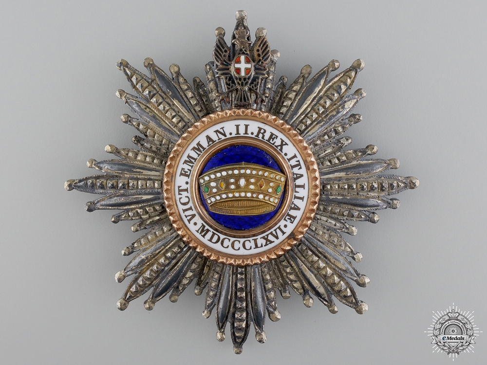 An Italian Order of the Crown; Grand Cross Star