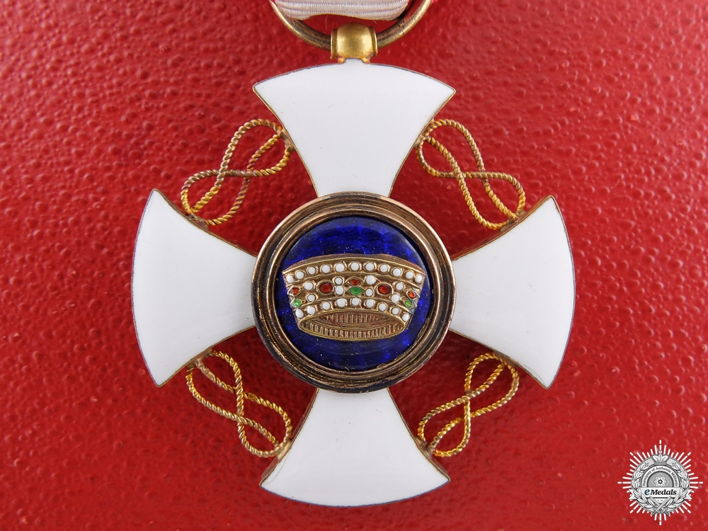 An Italian Order of the Crown in Gold