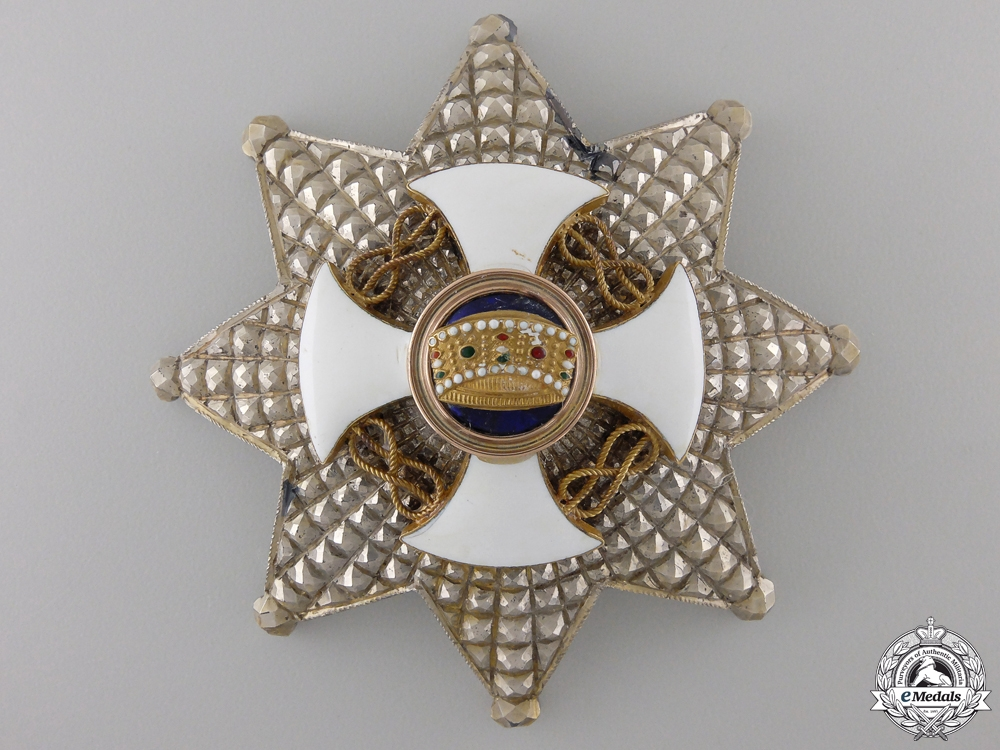 An Italian Order of the Crown; Commander's Star c.1915