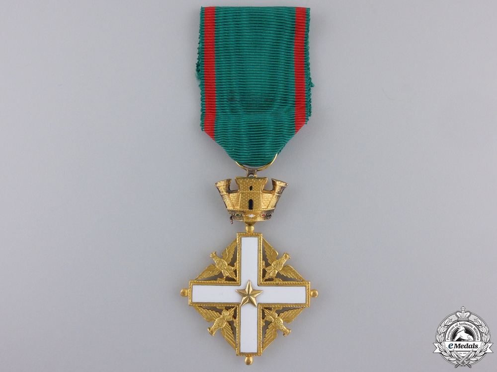 An Italian Order of Merit; Knight's Breast Badge