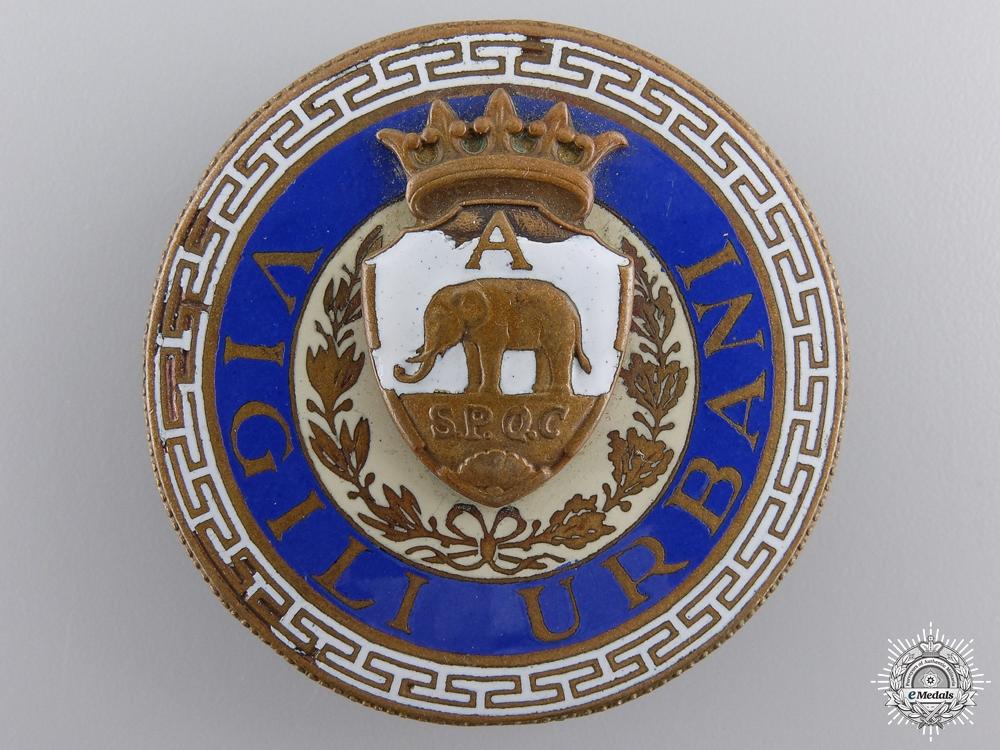 An Italian Vigili Urbani Badge by S.A.E.Pagni