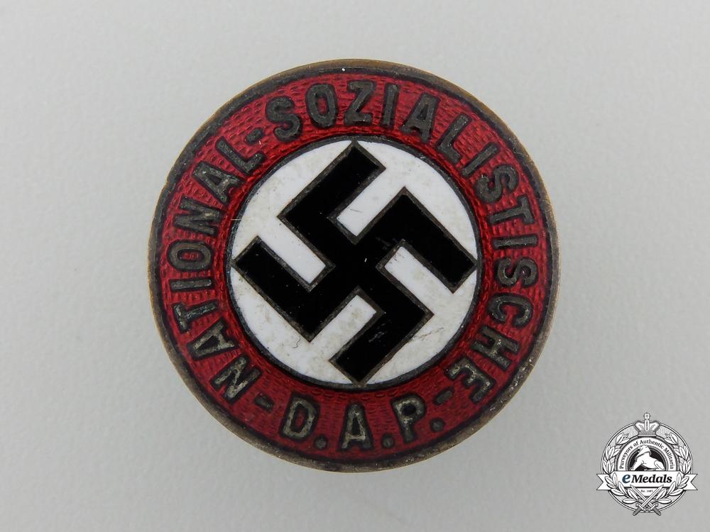 An NSADP Party Membership Badge by Apreck & Vrage, Leipzig