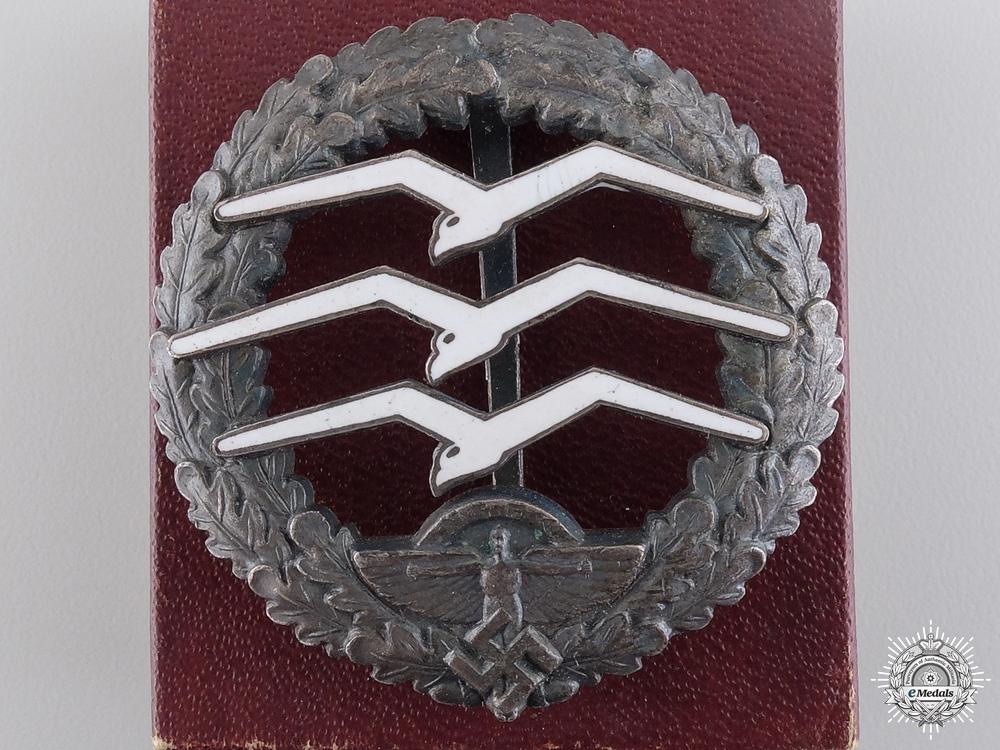 An NSFK Gliders Badge by Gesetzlich Geschützt with Box