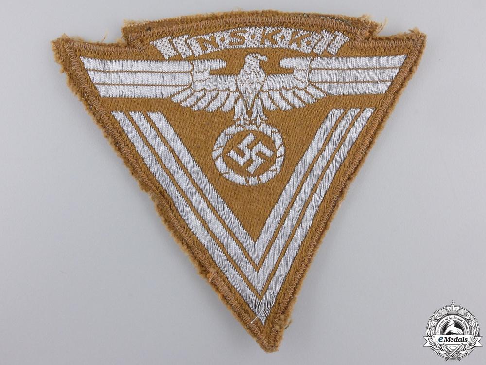 An NSKK sleeve Rank Insignia with RZM Tag