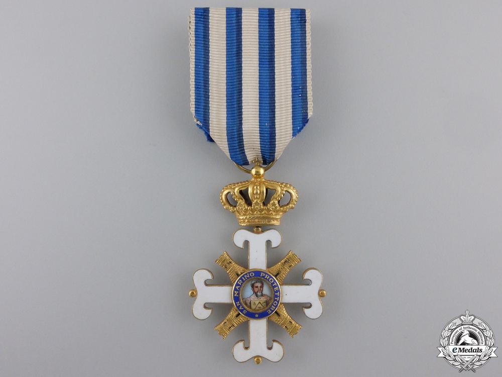 An Order of San Marino; Officer's Cross