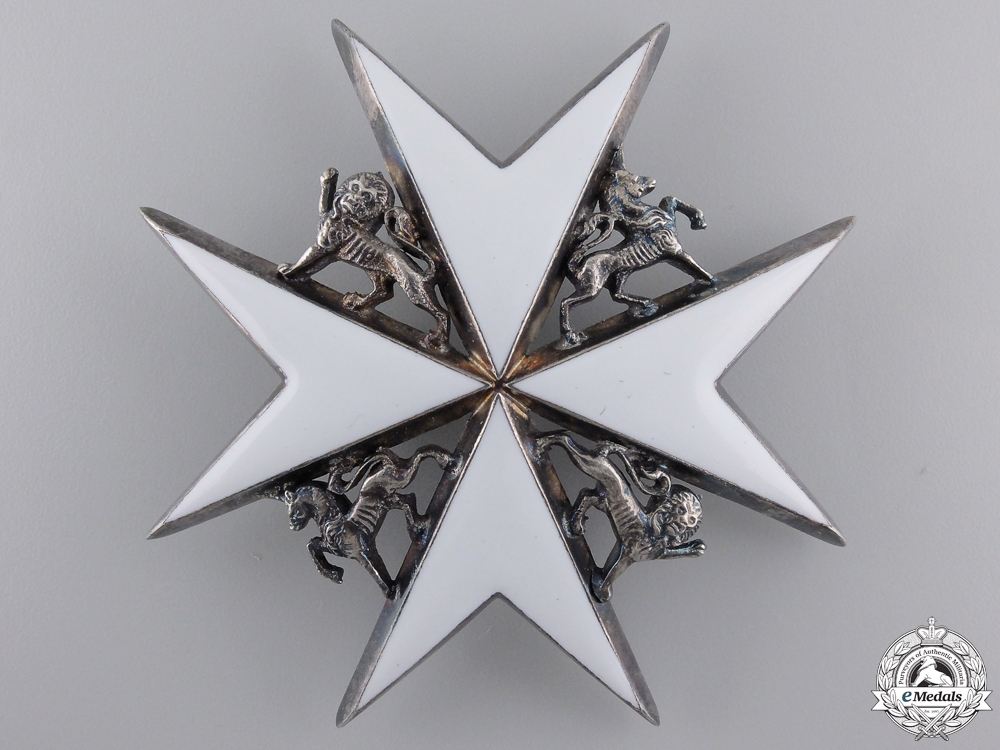 An Order of St. John; Commander Breast Star