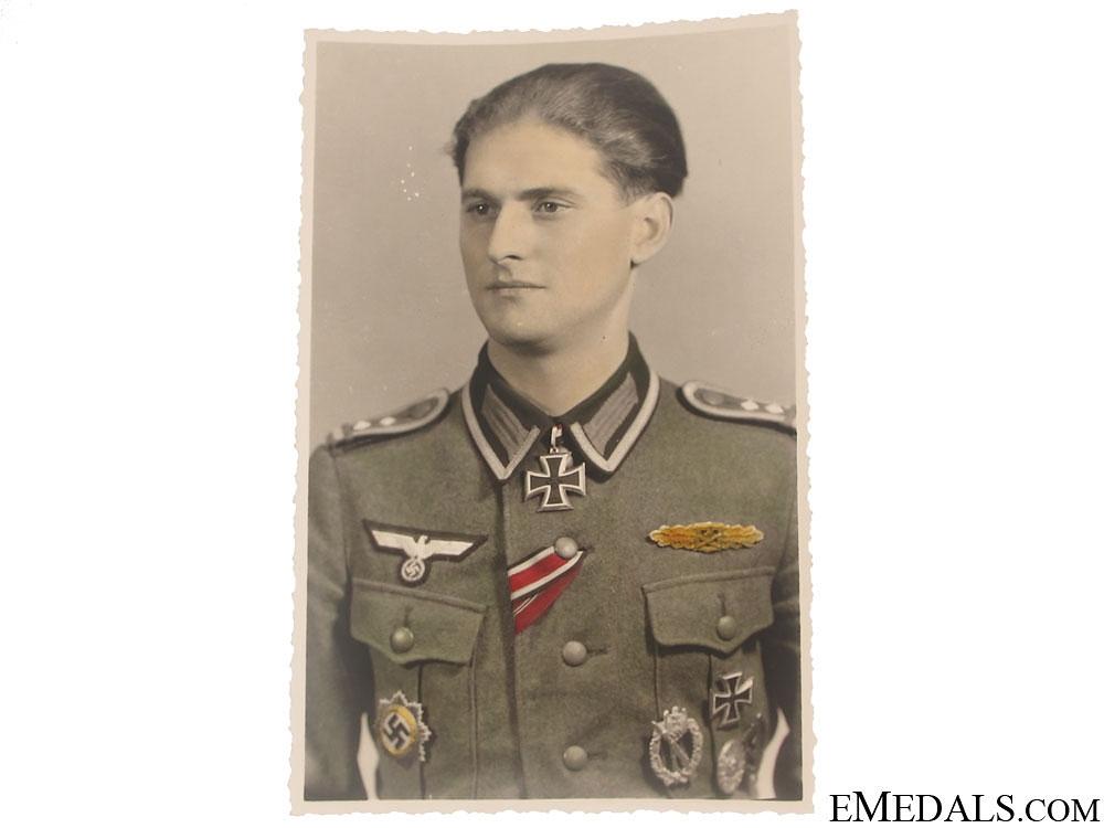 An Original German Knight's Cross Winner Photo Postcard