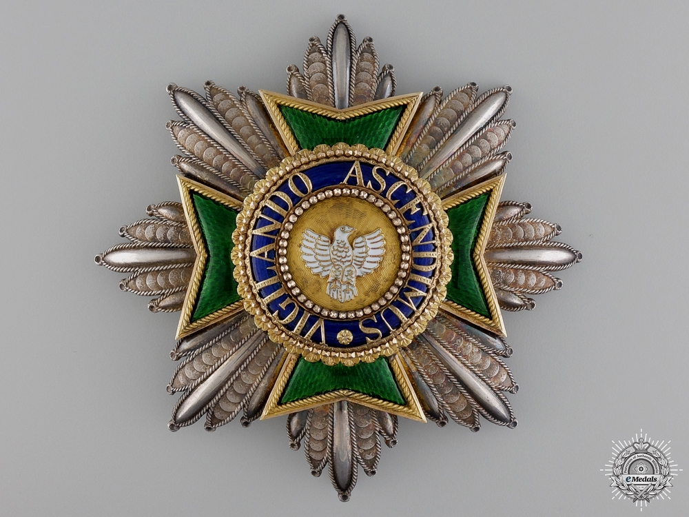 Saxe-Weimar (Herzogtum Sachsen-Weimar), an Outstanding 1840's Order of the White Falcon, Grand Cross Star