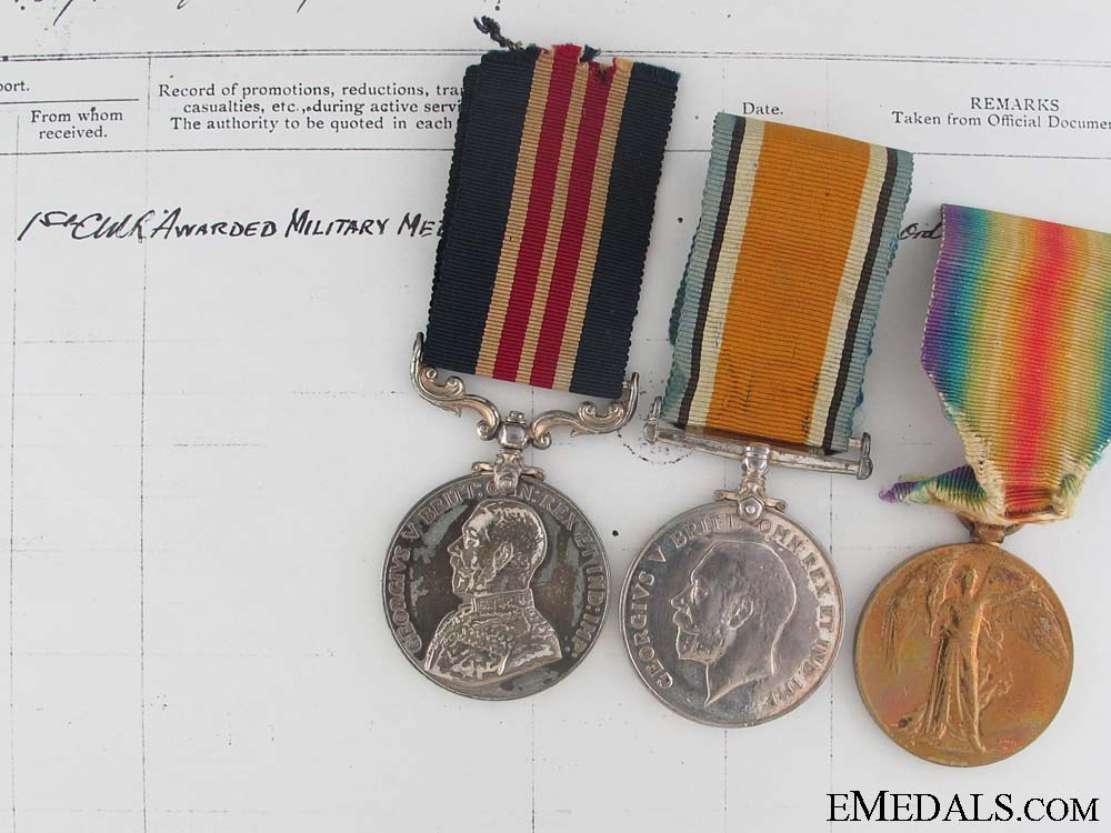 An Outstanding Military Medal for the Capture of 21 of the Enemy