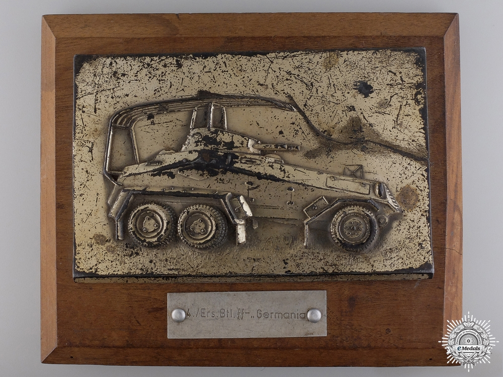 Germany, SS. A Germania Reserve Battalion 4th Company Plaque