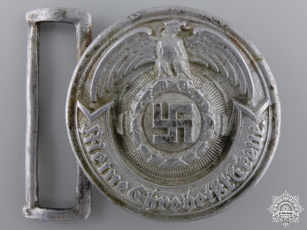 An SS Officer's Belt Buckle by Overhoff & Cie, Ludenscheid