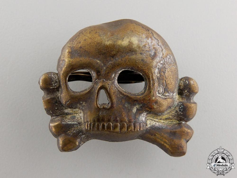 An SS Skull 1st Model for Visor Cap