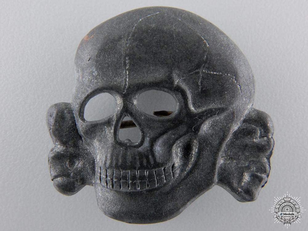 An SS Visor Cap Skull Marked Ges.Gesch.