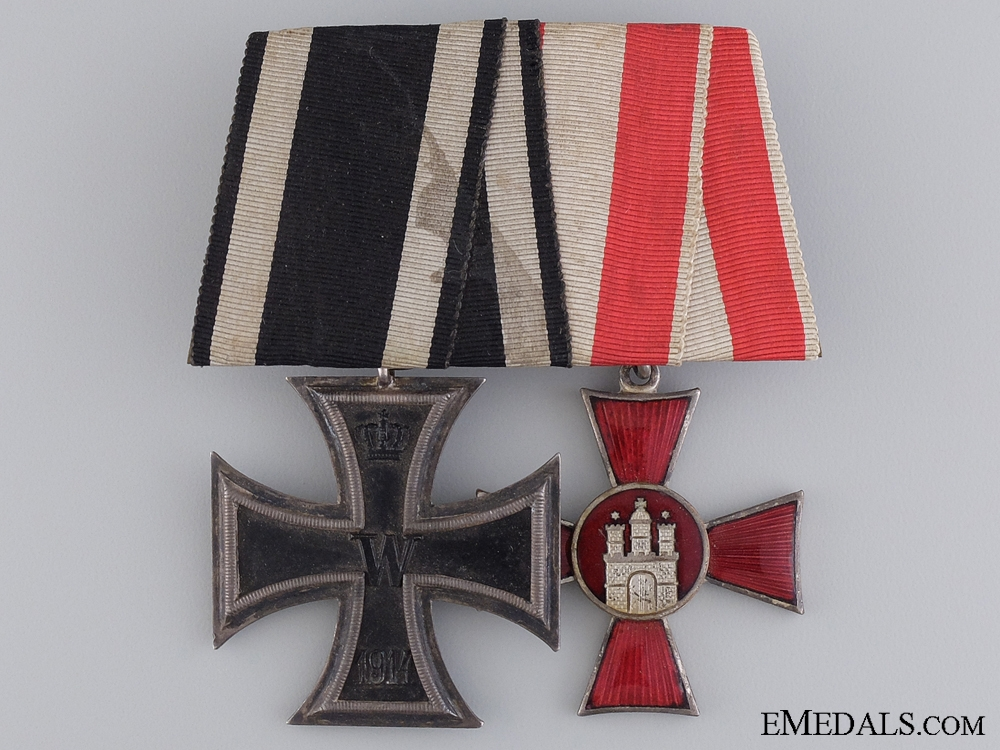An WWI Iron Cross Medal Pair; Marked Alfred Rösner, Dresden