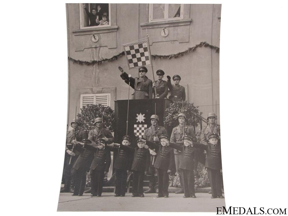 Ante Pavelic Speech Photograph