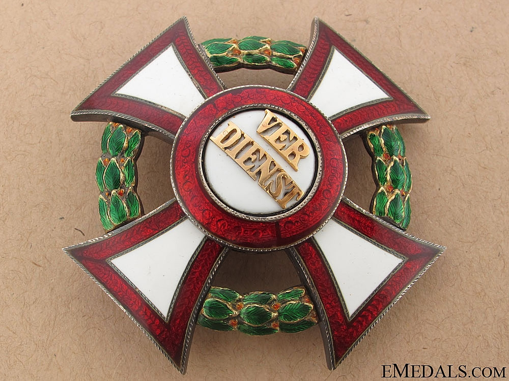 Military Merit Cross 1st. Cl. w/War Decoration 1914-18