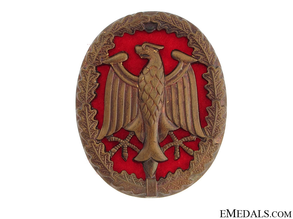 Armed Forces Badge for Military Proficiency in Bronze