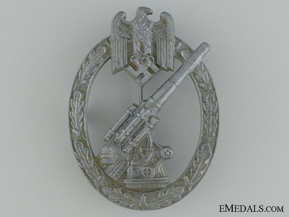 "Army Flak Badge; Very Rare ""Pillow-Crimp"" Version"