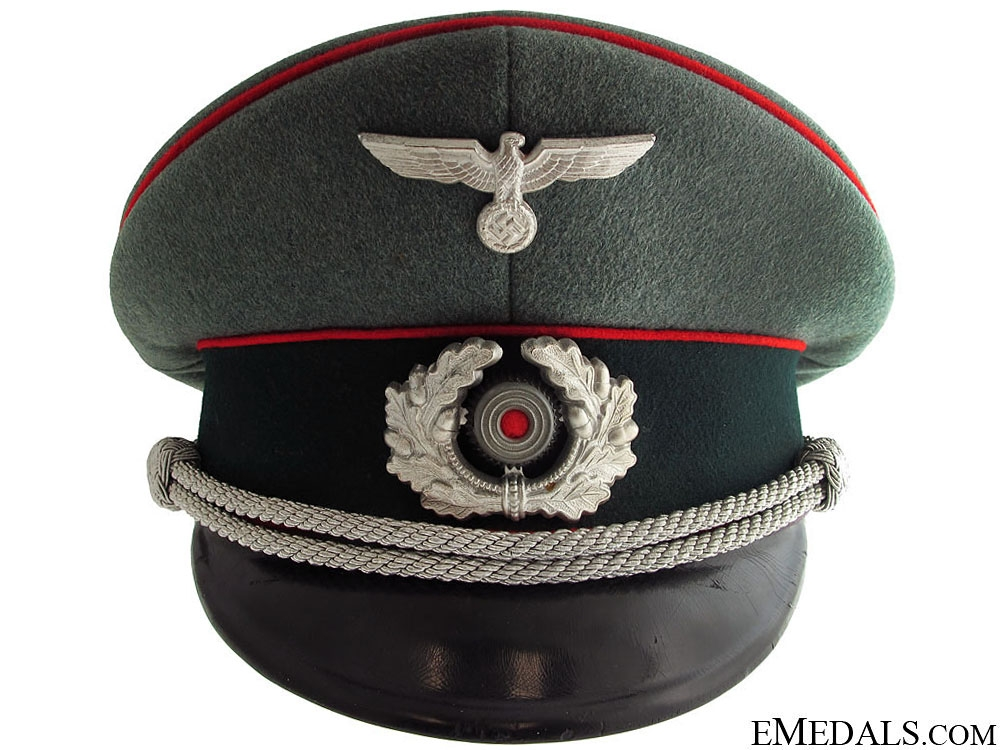 Army Flak Officer's Visor Cap