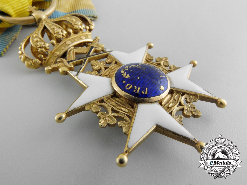A Napoleonic Period Swedish Order of the Sword in Gold c.1815