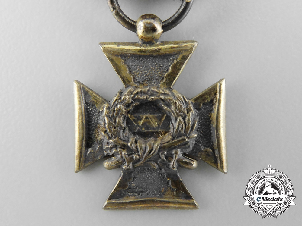 Netherlands. A Miniature Army Long Service Cross for Fifteen Years' Service