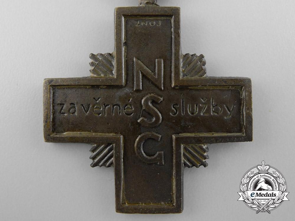 A 1938 Czechoslovakian Cross for Faithful Service