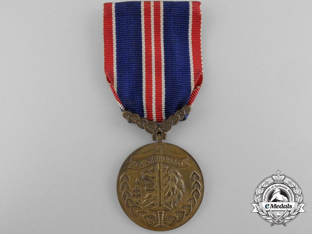 A 1939 Second War Czechoslovakian Bravery Medal