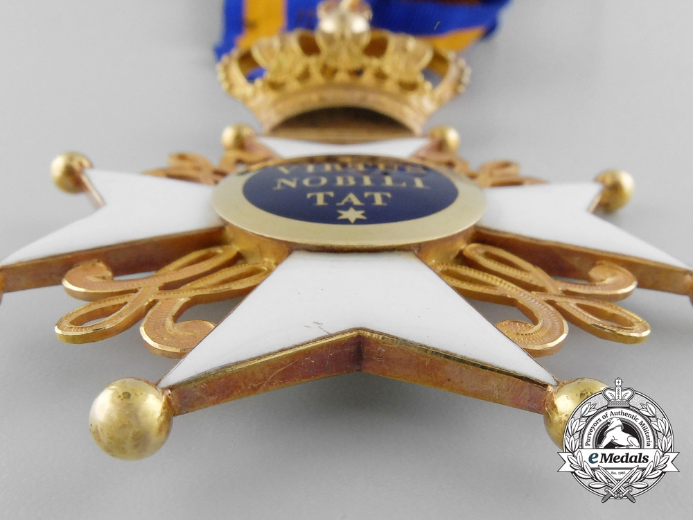 An Exquisite Order of the Dutch Lion; 2nd Class Knight Commander with Case c.1850