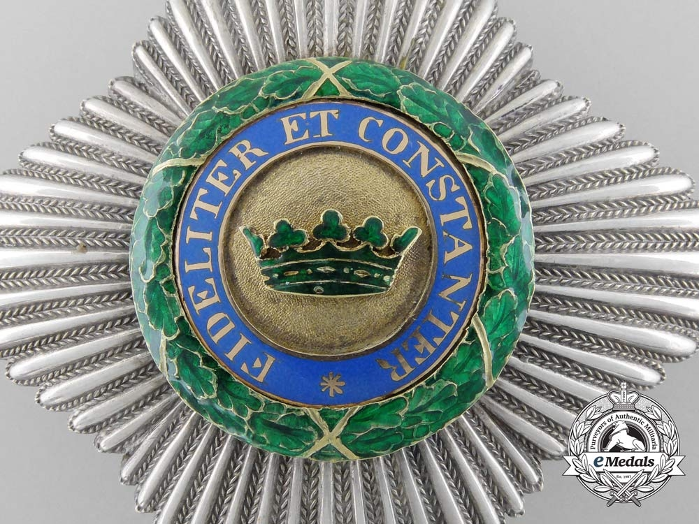 A Saxe-Ernestine House Order; Commander's Cross Breast Star