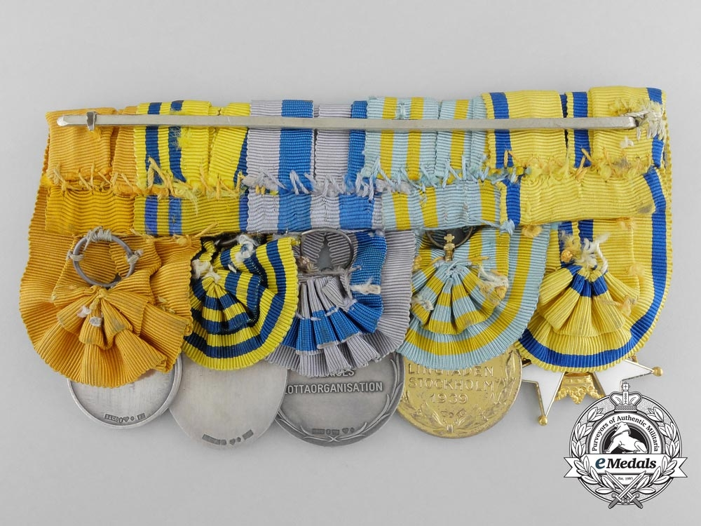 A Fine Swedish Order of the Sword in Gold Medal Grouping