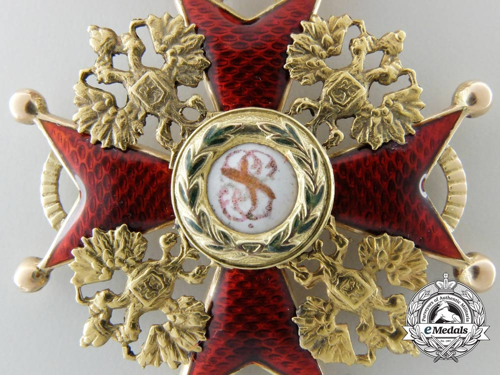 An Imperial Russuan Order of St. Stanislaus in Gold; Third Class by Eduard
