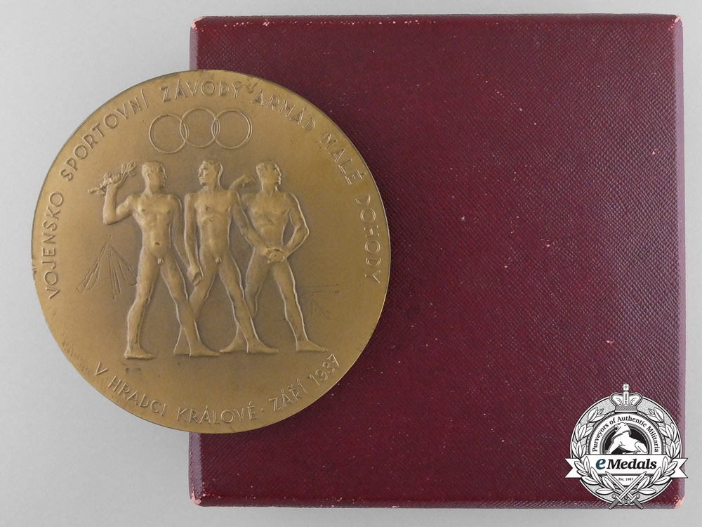 A Czechoslovakian Military Sports Competitions at Hradec Kralove 1937 Table Medal