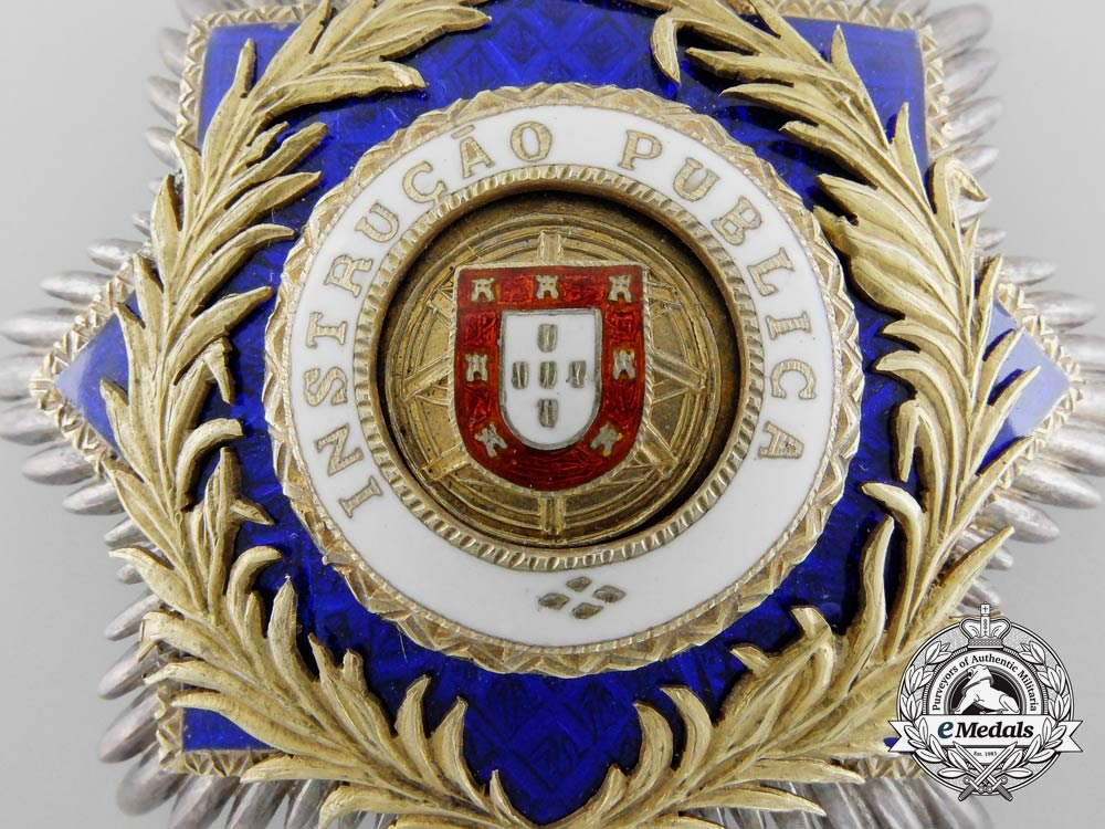 A Portuguese Order of Public Instruction; Breast Star