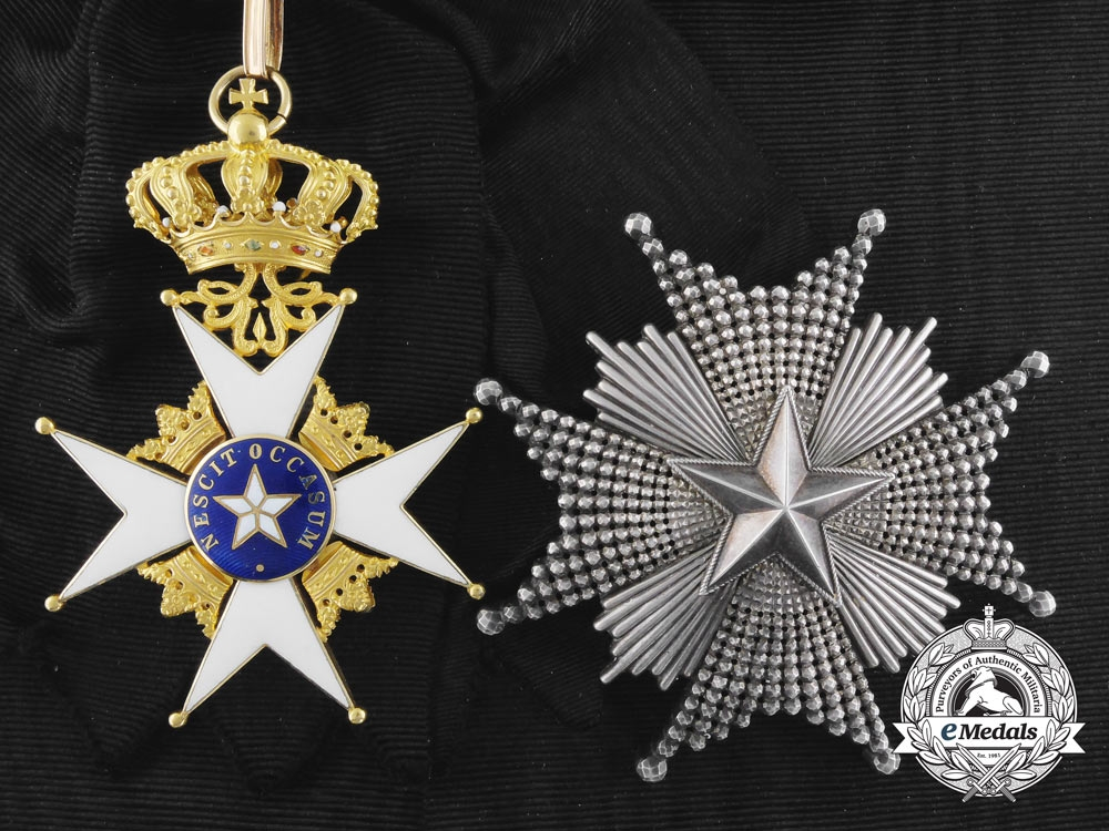 Sweden. An Order of the North Star in Gold, Grand Cross, by C.F. Carlman