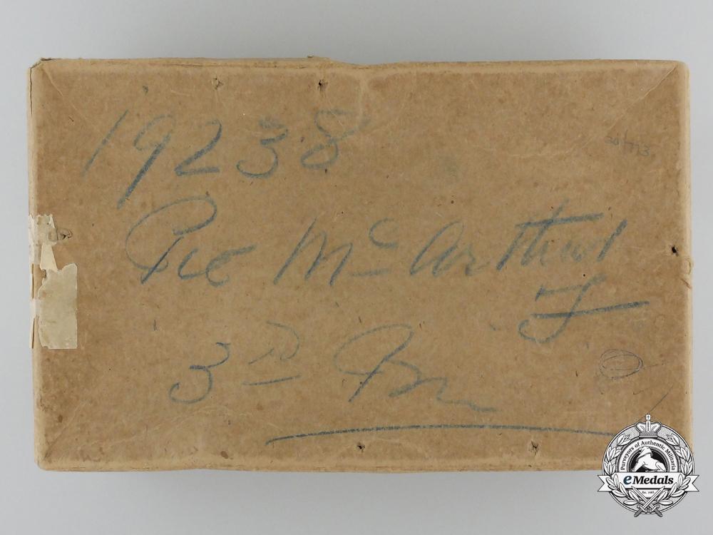 A First War Canadian Memorial Grouping to Fred & John McArthur