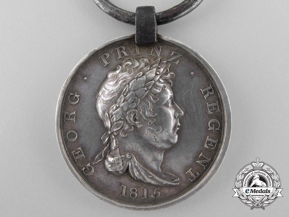 An 1815 Hanoverian Waterloo Medal to the Husaren-Regiment Herzog von Cumberland