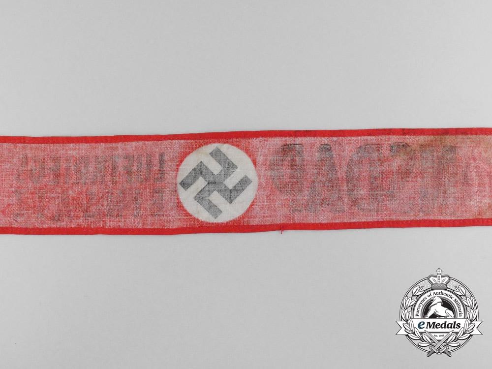 An NSDAP Luftkriegs Einsatz (Air War Employment) Armband