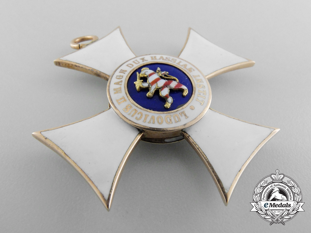 A Hessen Order of Philip the Brave in Gold;  First Class