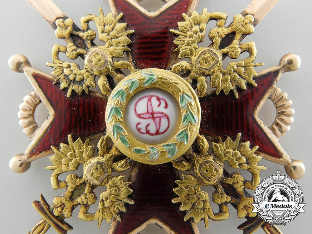 A Russian Imperial Order of St. Stanislaus in Gold; 3rd Class by Albert Keibel