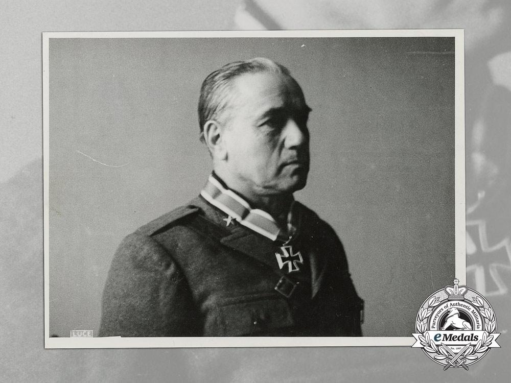 A Large Second War Period Photo of field Marshal (Maresciallo d'Italia) Giovanni Messe