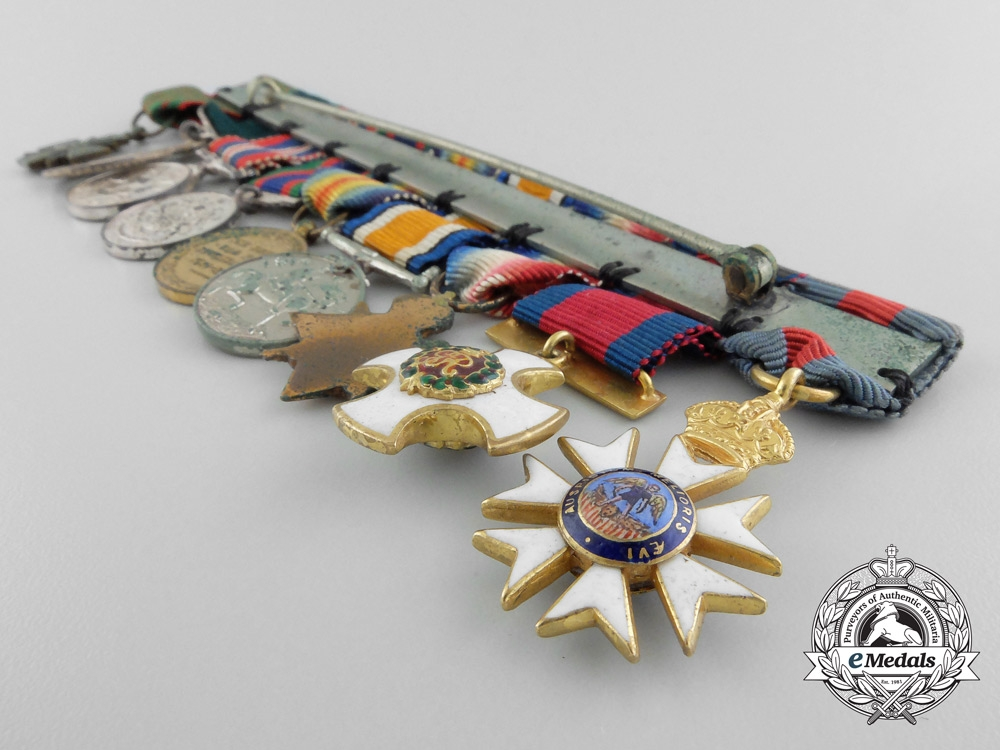 Canada, Dominion. An Order of St.Michael and St.George & DSO Miniature Group