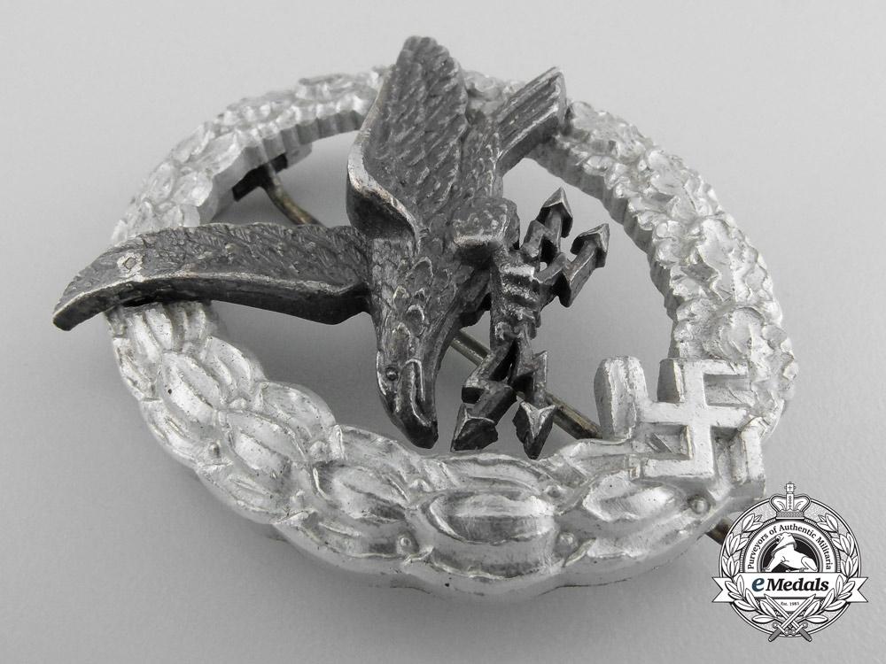 Germany, Luftwaffe. A Radio Operator Badge in Aluminum, by Assmann