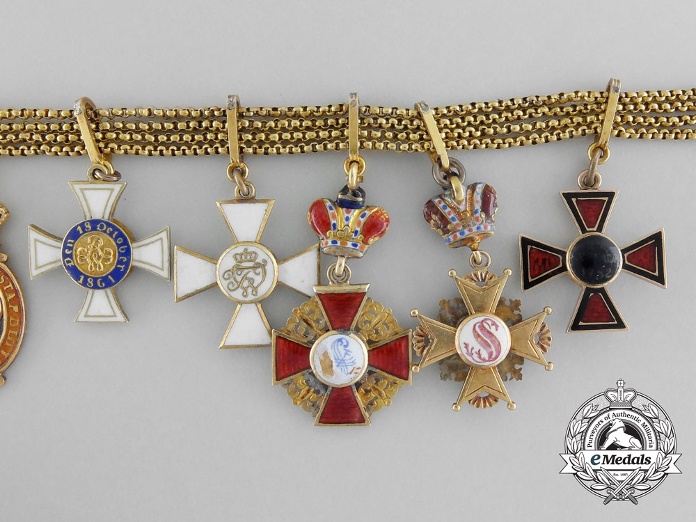 A Very Fine Russian Miniature Chain Group