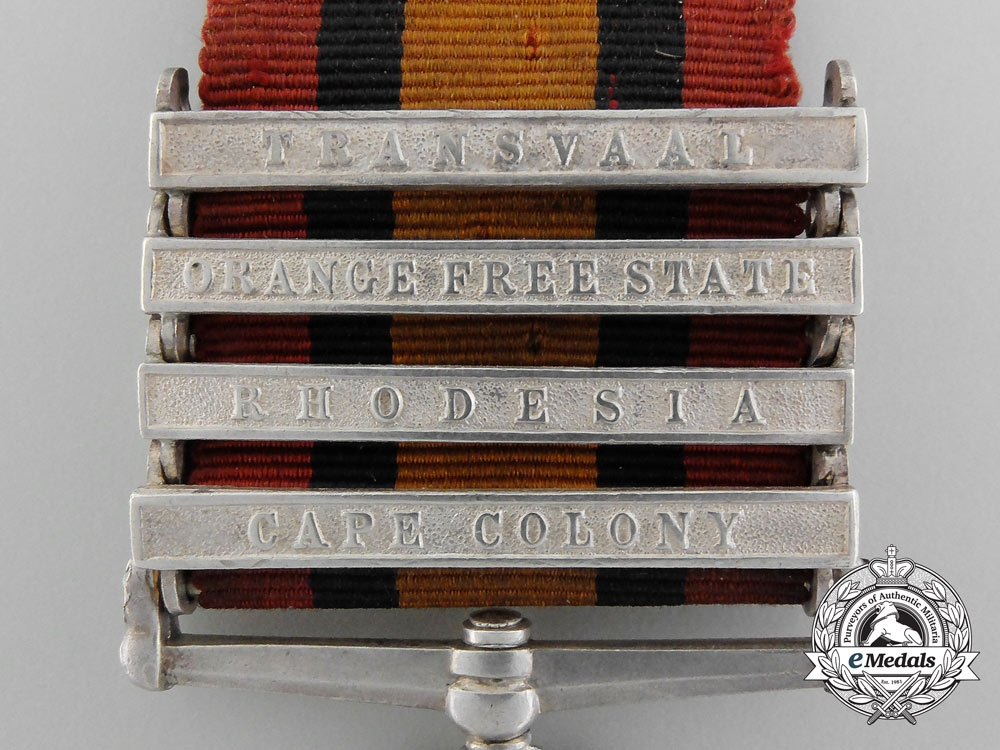 A Queen's South Africa Medal to Private Frederick Cunning; North-West Mounted Police & Lord Strathcona's Horse