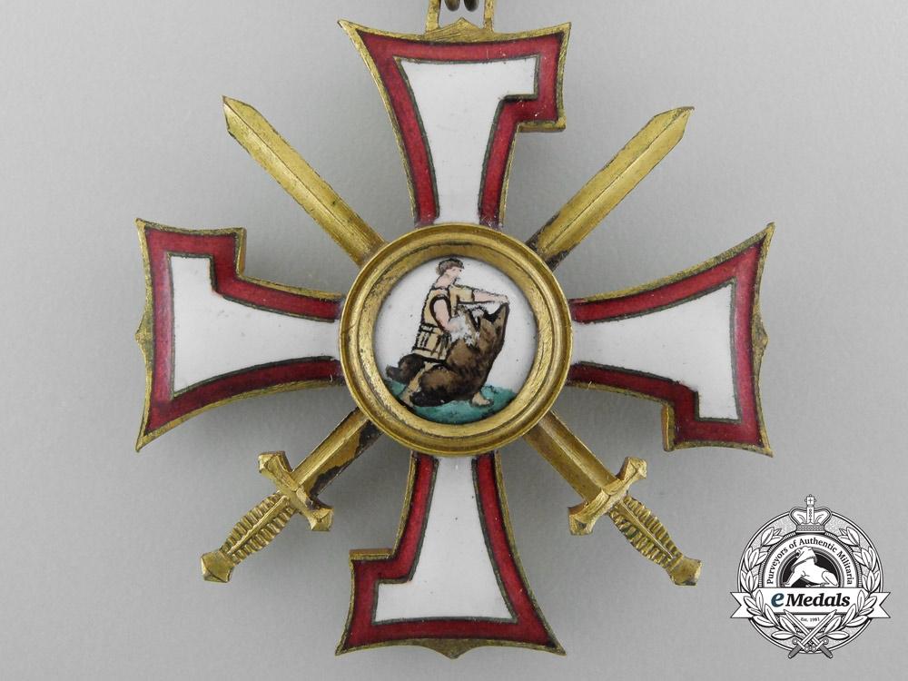 Latvia. An Order of the Bear Slayer; Knight's Cross, c.1940